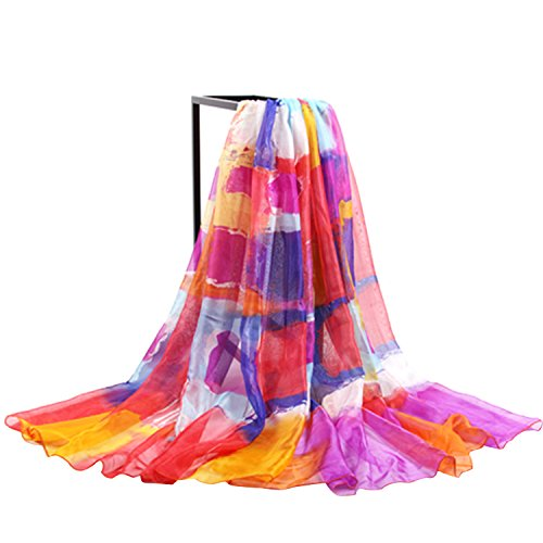 JLTPH Sommer Damen Chiffon Sarong Pareo Wrap Wraps Schal Schals Wickel Sonnenschutz Schal Kleid -