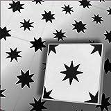 1 m² (25 Stück) Zementfliesen Stern 161_4 orientalische marokkanische Fliesen Mosaikfliesen Dekor Altbausanierung