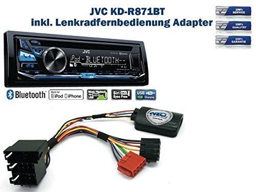 JVC KD-R871BT inkl. Lenkrad Fernbedienung Adapter fÃŒr Nissan Micra Bj. Bis 2006 / Note Bj. Bis 2009