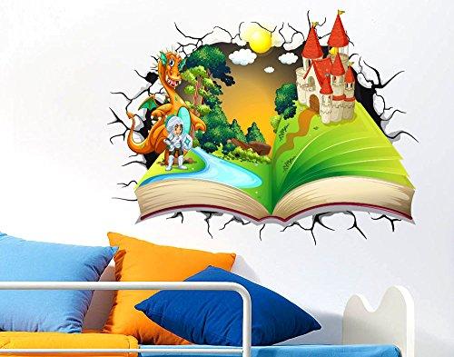 Adesivi murali per bambini adesivo murale effetto 3d decorativo cameretta bambini libro delle - Adesivi per cameretta bambini ...