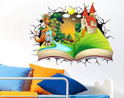 Adesivi murali per bambini adesivo murale effetto 3d for Adesivi murali 3d