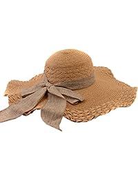 Sommer Frauen breite Krempe Sonnenhut faltbare Strohhut Floppy Derby Beach Cap