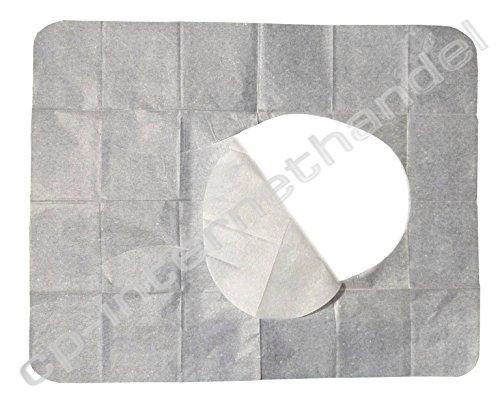 200 WC Hygiene Sitzauflagen - Papierauflagen für Toilettensitz