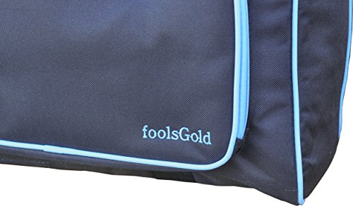 FoolsGold Pro dick gepolsterten Nähmaschine Tasche Tragetasche - Schwarz/Blau - 3