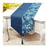 JUNYZZQ Tischläufer Chinesische Baumwolle Einfache Moderne Kleine Frische Japanische Koreanische Bettfahne Couchtisch Tv-Schrank 30X300 cm