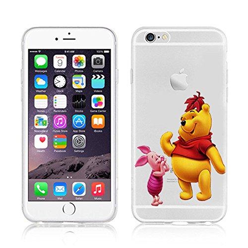 Ronney's Disney Weiche Handyhülle Winnie Puuh und seine Freunde, transparent, TPU-Material, für Apple iPhone  5/5S / SE/ 6 / 6S/6+/6+S, plastik, Winnie1, APPLE IPHONE 6/6S WINNIE & PIGLET 2