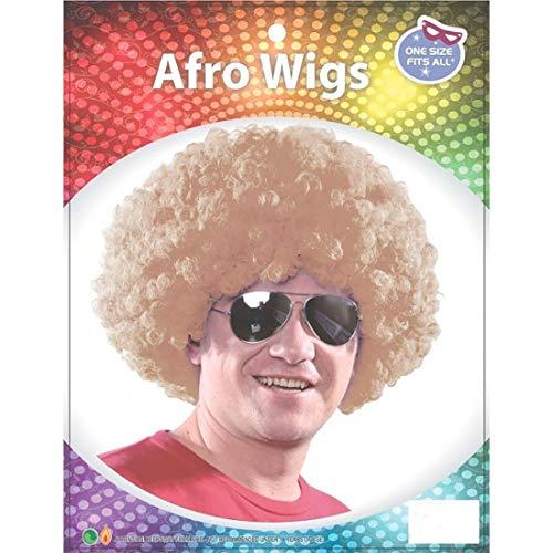 Islander Fashions Afro Fancy Dress Per�cken Disco Clown Stil Unisex 70S lockiges Haar Kost�m Zubeh�r Blond One Size