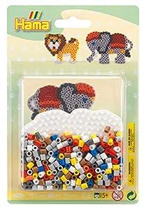 Hama 10.4183 Safari - Juego de Cuentas para Mosaico (tamaño pequeño), diseño de Mosaico