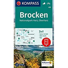 Brocken, Nationalpark Harz, Oberharz 1:25T: 3in1 Wanderkarte 1:25000 mt Aktiv Guide inklusive Karte zur offline Verwendung in der KOMPASS-App. Fahrradfahren. (KOMPASS-Wanderkarten, Band 455)