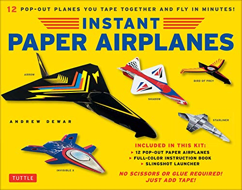 Instant Paper Airplanes Ebook: 12 Printable Airplanes You Tape Together and Fly! (English Edition) Paper Tape Kit