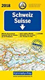 Schweiz ACS 2018: 1:275 000, Offizielle Strassenkarte Automobilclub der Schweiz mit 10 Stadtpläne (Kümmerly+Frey Strassenkarten)