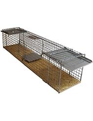 große 116x26x28cm Marderfalle Waschbärfalle Katzenfalle Kaninchenfalle Lebendfalle Tierfalle Lebend-Falle Tier-Falle Falle