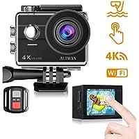 Action Cam 4k WiFi Unterwasser Kamera 16MP Ultra HD Touchscreen Sports Camera 30M Wasserdicht Unterwasserkamera Helmkamera mit 2 Batterien und Kostenlose Zubehör Kits Kompatibel mit GoPro