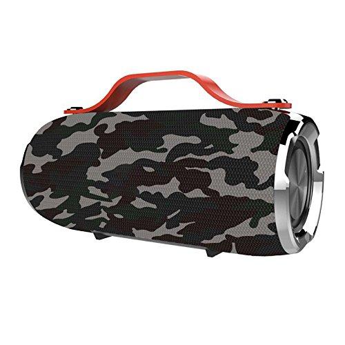 GUORZOM Drahtlose Bluetooth Lautsprecher Für Smartphones Ultra Bass Outdoor Camping Wandern Tragbare Wasserdichte Lautsprecher Voice Box, Camouflage