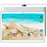 Gulin 10,1 Zoll Tablet PC 4 GB RAM 64 GB ROM Android 7.0, Dual Sim 3G Telefonieren, HD IPS Bildschirm 1920 x 1200, WLAN/Wifi Blutooth OTG, Dual Kamera (Silber)
