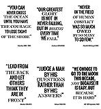 Citation Poster A4 - Lot de 6 Posters - Citations Motivantes - Art Mural