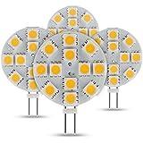 Albrillo 3W G4 LED Lampe 12*5050 SMD Warmweiß (3000 Kelvin), 140 Lumen, DC 12V, 4er Pack