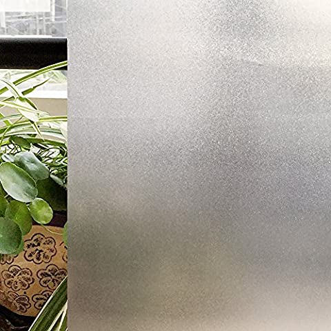 Selbsthaftende Fensterfolie gefrostet wiederverwendbar 3D-Muster Michglas Sicht- UV- Infrarot- Hitze-Schutz Privatsphäre für Fenster Türen Bad Küche Balkon Terrasse, ohne Kleben leicht anzubringen