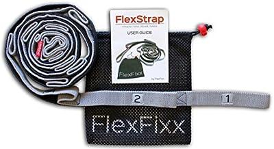 Premium Flexibilität Stretch-Out Strap - Fitnessband & Gymnastikband - Beste für Yoga, Dance & Workout - Resistance Widerstandsband & Expander mit Gratis Benutzerhandbuch