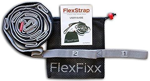 FlexFixx Sangle élastique et guide de l'utilisateur[français non garanti] pour sport yoga thérapie