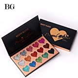 NEW Beauty Glazed Eyeshadow Palette Ultra Pigmented Mineral Pressed Glitter Make Up Eye Shadow Powder Flash Eyebrown Shimmer Waterproof 15 Colors Face Lips Art for Party Festival Make Up