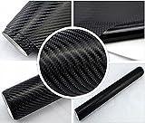 5,9€/m² 4D Carbon Folie - SCHWARZ 4D - 100 x 152 cm Auto Folie BLASENFREI selbstklebend flexibel Lackschutz Folie Deko Folie folieren Car Wrappig
