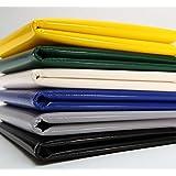 Telone in PVC per camion, larghezza 2,5 m, 680 g/m² - 700 g/m², al metro, senza occhielli, di colore verde, grigio…