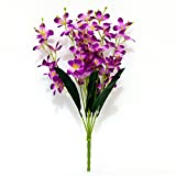 #6: Ashiyanadecors Artificial Orchid Flowers Natural Looking Purple for Home & Garden décor