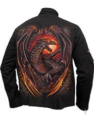 Spiral Direct dragon Fournaise veste de coton avec des agrafes chien moyen