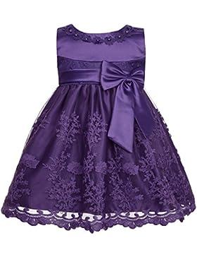 YiZYiF Baby Mädchen Kleid Prinzessin Hochzeits Taufkleid Blumenmädchen Kleider Party Festlich Kleid Festzug Kleidung...