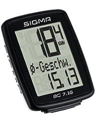 Sigma Sport Fahrradcomputer BC 7.16, Schwarz, One size, 7160