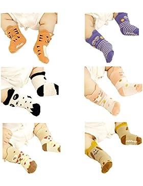 JT-Amigo 6er Pack Baby ABS Antirutsch Socken