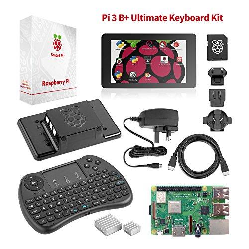 Raspberry-Pi-3-B-Ultimate-Starter-Set--Komplettes-Touch-Teach-Paket-mit-Pi3-B-Motherboard-7-Touchscreen-Tastatur-32GB-vorinstalliertem-NOOBS-Originalgehuse-2-Khlern-HDMI-Stromversorgung