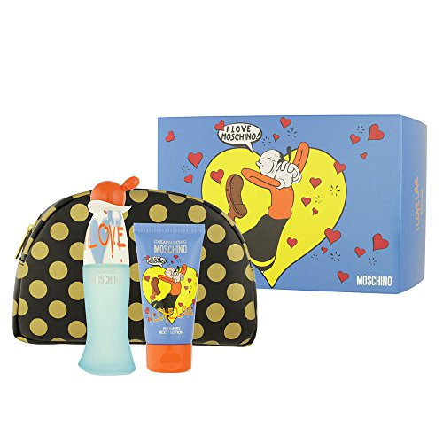 Moschino cheap & chic i love profumo, lozione corpo e borsa–1pack