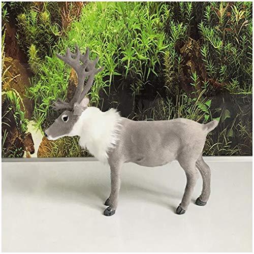 LUCKFY Plüsch-Simulation Weihnachten Elk - Christmas Table Top Deer Figuren Ornaments - für Weihnachten Desktop Home Decor Sammler,Smallsize -