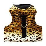 Katzengeschirr Leopard braun ausbruchsicher Größe S, Hals: 20 - 25 cm, Brust: 30 - 38 cm