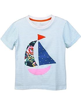 OKIDSO Niedlich Mädchen T-Shirt,Weich Baumwolle T-Shirt,Karikatur Muster