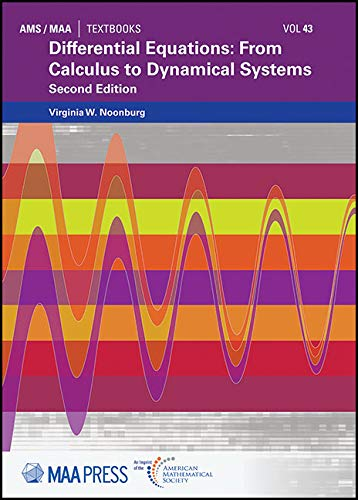 Differential Equations: From Calculus to Dynamical Systems (Ams/Maa Textbooks, Band 43)