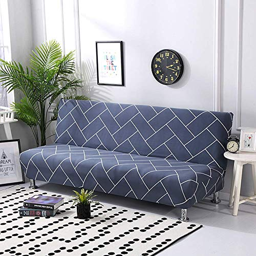 KongEU Funda para sofá sin Brazos, elástica, de Licra, Moderna, Simple, para...