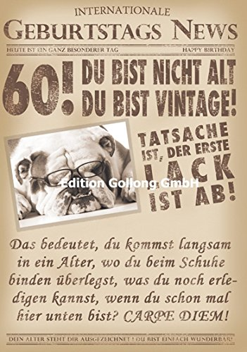 Glückwunschkarte zum 60. Geburtstag ~ Du bist nicht alt, Du bist vintage