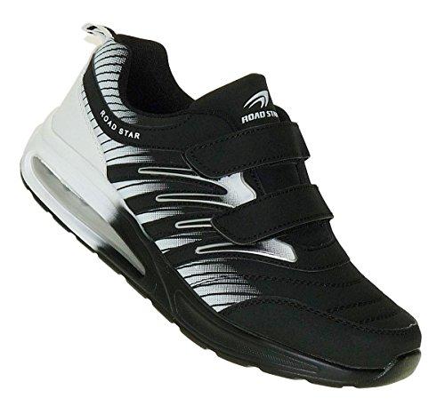 Bild von Bootsland 908 Black White Klett Turnschuhe Sneaker Sportschuhe Herren