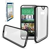SONiVO® - HTC ONE M8 - Fusion Couverture Rigide Gel Etui / Housse (Alias: Fusion Gel Hard Case / Cover / Skin) NOIR pour Nouvelle 2014 Modèle de HTC ONE M8 SmartPhone