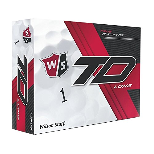 Wilson 2017 Staff True Distance Long Doux Golf Balls (One Dozen), Messieurs, True Distance