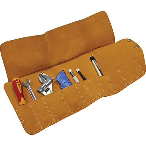 Faithfull 10 Pocket Leather Tool Roll (10 Pocket Leather Tool)