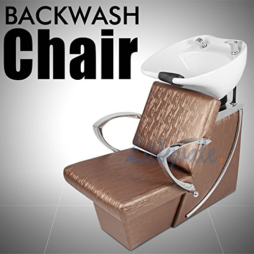 Lillyvale® Hair Washing Backwash Unit Back wash Salon Barber Chair Hairdressing Shampoo Hollywood Gold