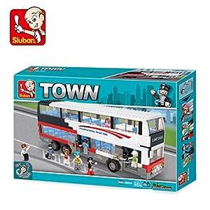 Sluban Luxurious Double-Decker Bus Building Block Toys For Kids 741PCS Multi Color LEGO Compatible Educational M38-B0335