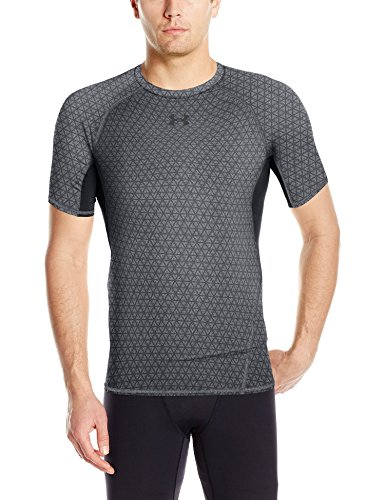 Under Armour Herren Fitness T-Shirt und Tank Armour HG Comp Printed SS Tee Graphite