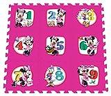 Stamp–tp863001–Puzzle de Sol–Tapis de Boden Schaumstoff–umbaubar in Marelle–Minnie–210 X 60cm–9-teilig