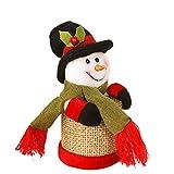 LQZ Bonboniere mit deckel Bonbondosen Geschenkdosen Candy Box Weihnachten - Schneemann