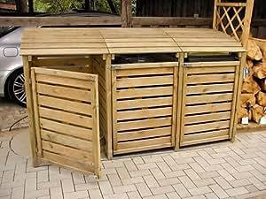 Mülltonnenbox für 3 Mülltonnen